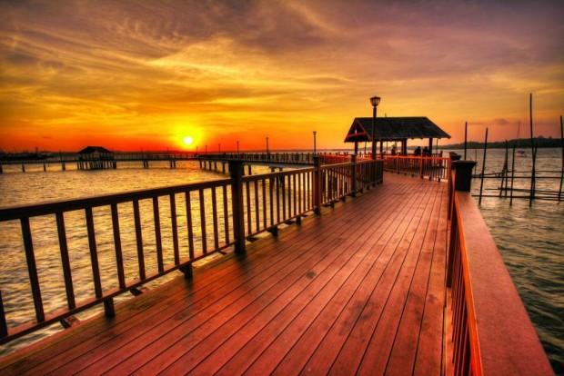 du lich singapore Ngắm hoàng hôn trên biển